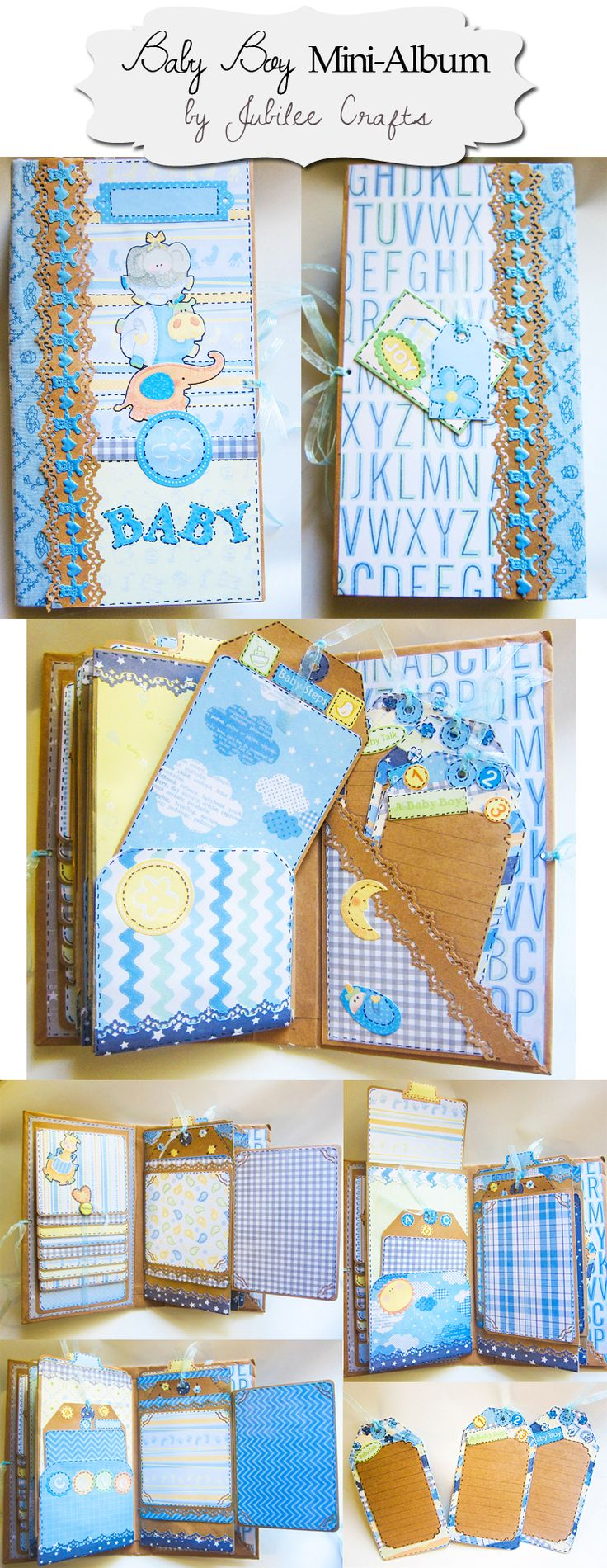 Modified baby album paper bag and waterfall for time sake for Waterfall design in scrapbook