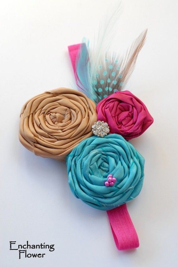 Hair bows for girls, love this color combo!