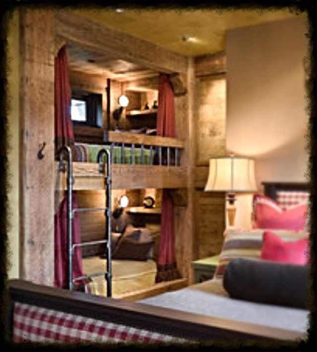 Built In Rustic Bunk Beds Bunk Beds Pinterest Rustic