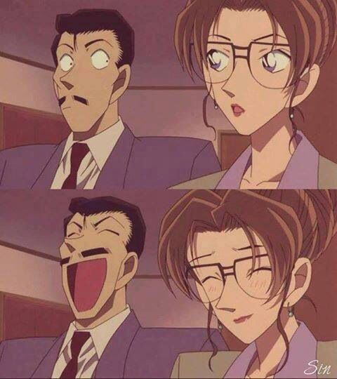 Kogoro and Eri are really cute together