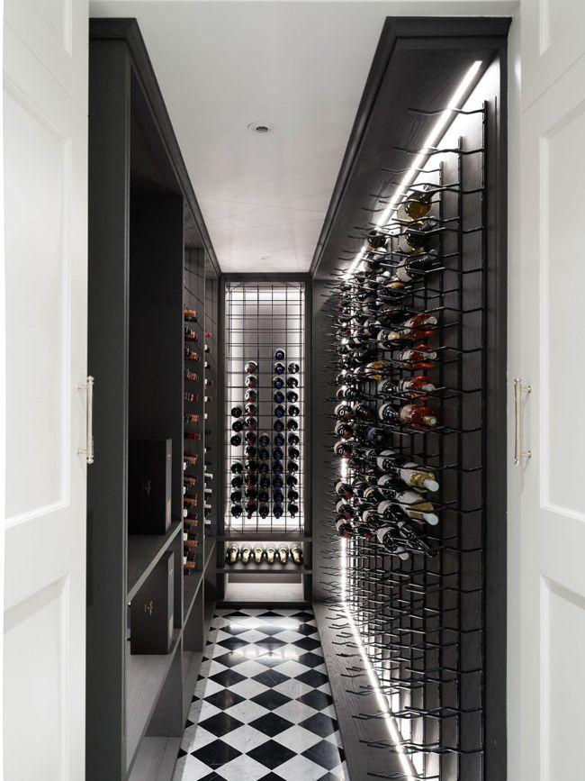 black & white wine room, by LuigiRosselli