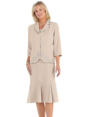 Embroidered Jacket Dress from www.amerimark.com.