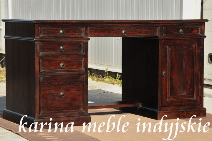 kolonialne biurko LD-902 dark brown