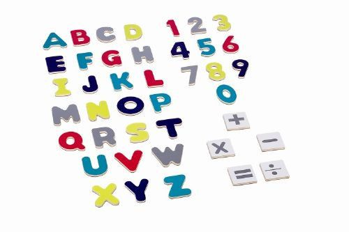 Fun, bright assorted magnetic letters & numbers.  AGE 3+