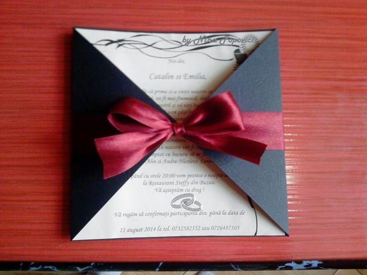 Despre invitatii si altele: Invitatii nunta handmade nr. 18