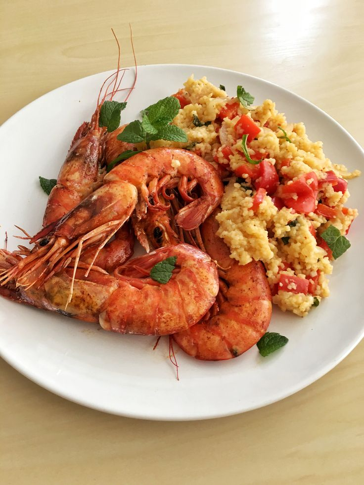 Grilled King Prawns with Spicy Couscous