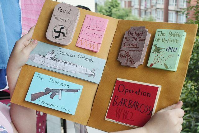 World War II lapbook by jimmiehomeschoolmom