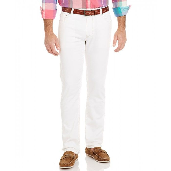 Tapered white jeans from Gazman.  #dinerenblancperth #gazman