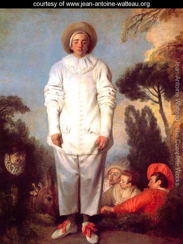 Pierrot (or Gilles) - Jean-Antoine Watteau - www.jean-antoine-watteau.org