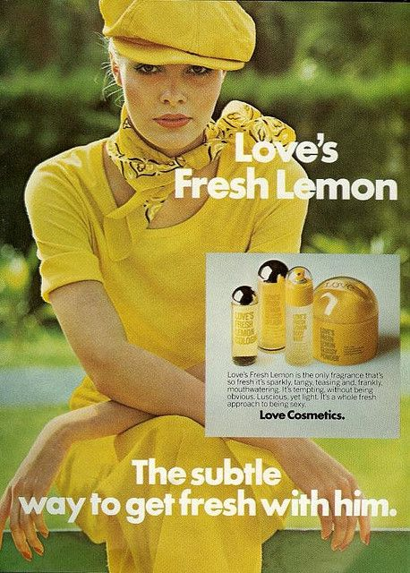 """Get fresh with him Loves Fresh Lemon 1975...Always had the """"ENTIRE """" Line if this!!!!"""