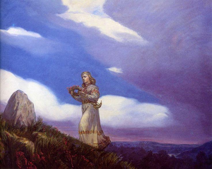 Картина Андрея Леонидовича Клименко «Венок на камень»