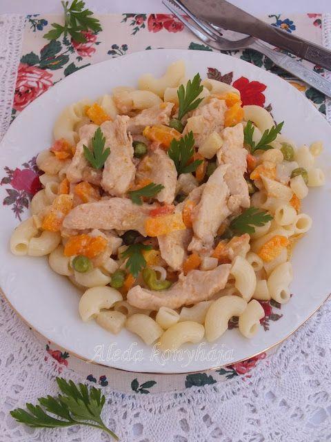 Aleda konyhája: Zöldséges csirkemelltokány