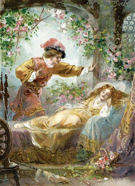 """Ambrose Dudley (fl. 1920s), """"The Prince finds the Sleeping Beauty"""" by sofi01, via Flickr"""