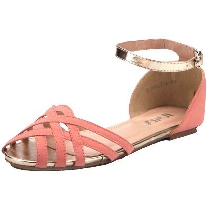 Sandalen mit Riemchen - Coole rosa Sandalen von Schuhtempel24. Die Riemchen und der trendige Peeptoe-Look sorgen für ein modernes Outfit. - ab 22,99€