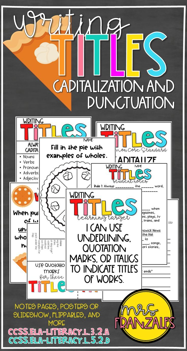hight resolution of Writing Titles Punctuating and Capitalizing   Writing titles