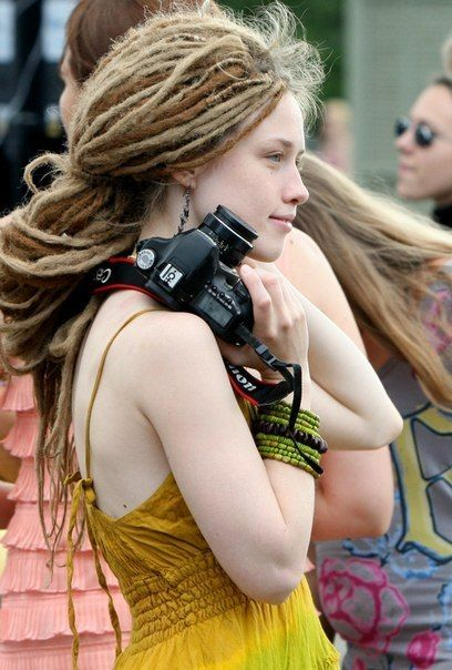 haha camera in my hand and dreads in my hair