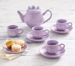 Ceramic Kitty Tea Set