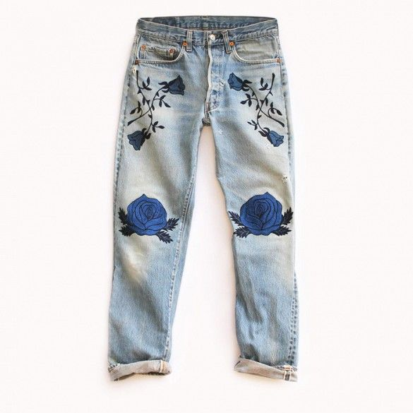 Bliss and Mischief The Conjure Flower Denim Jeans