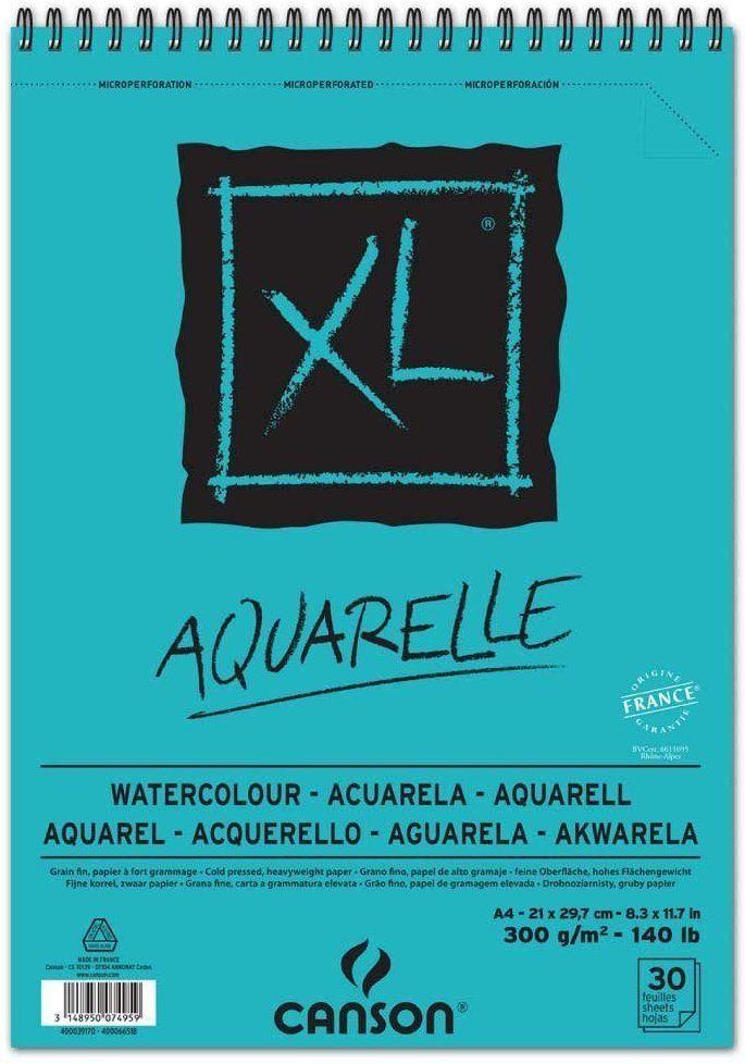 Canson 400039170 Skizzen Und Studienblock Xl Aquarelle Din A4