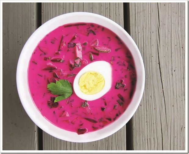 """""""Okroshka""""  a cold soup prepared with a mix of mostly raw vegetables boiled potatoes, eggs, and a cooked meat such as beef, veal, sausages, or ham with kvass, which is a mildly alcoholic beverage made from fermented black or rye bread. Okroshka Soup from #YummyMarket"""