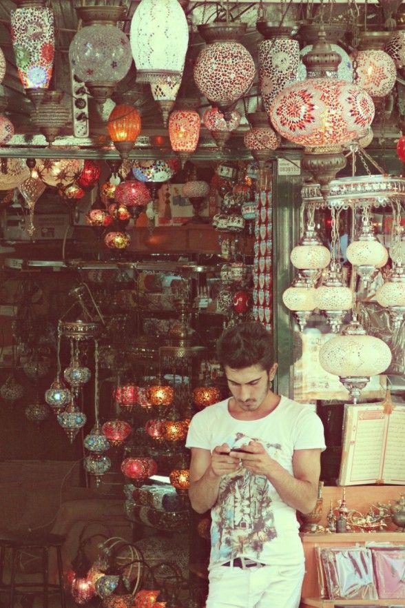 Instabul's Grand Bazar - lamp-salesman