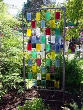 Stained Glass Trellis Glass Garden Garden Projects And