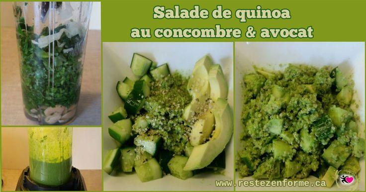 Salade de quinoa au concombre et avocat