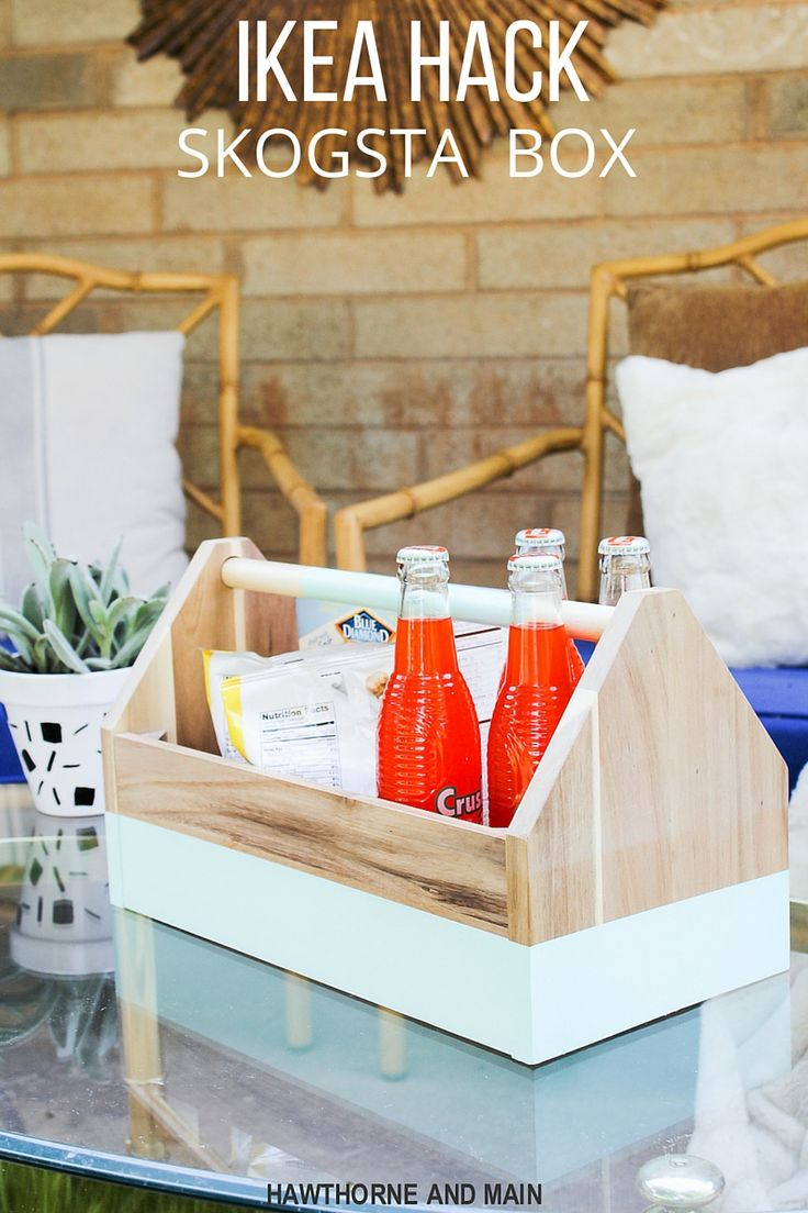 Who love IKEA? This SKOGSTA box IKEA hack looks so fun. Sometimes a little pop of color is all it takes!