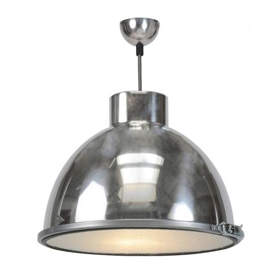 Giant 1 pendant light natural aluminium with wired glass