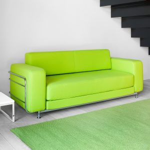 Lime Green Faux Leather Sofa Bed
