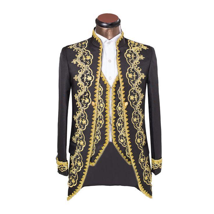 Купить товарРоскошь вышивка костюмы свадьба костюм для мужчины жених двубортная костюмы приталенный Fit черный смокинг куртка брюки в категории Костюмына AliExpress.                 Примечание:         Этот костюм имеет соответствием жилет,  Если вы не хотите этот жилет, пожалуйста, ра