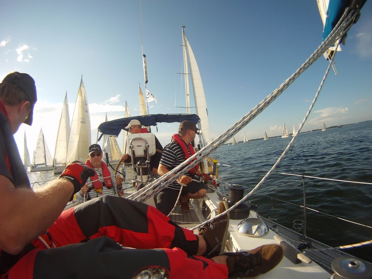 Helsinki-Tallinn race 2012. This was 20th anniversary race. Our Yacht AquilaDeux was finally the 13th in its class.