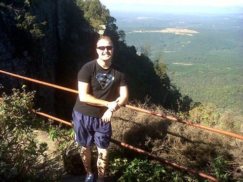 Say Cheese. Here is my gorgeous Husband, Josias, at God's Window, Mpumalanga. I am the photographer!    Photo by: Kerry Le Roux