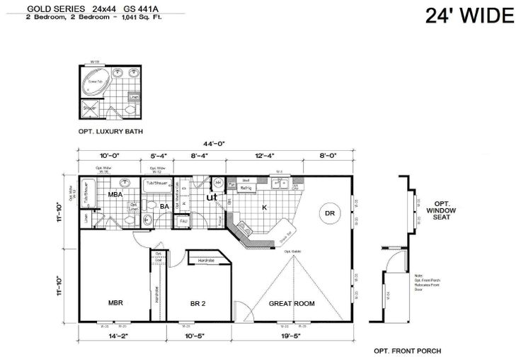 24x44 gold gs 441a the home boys your housing for 24x50 house plans