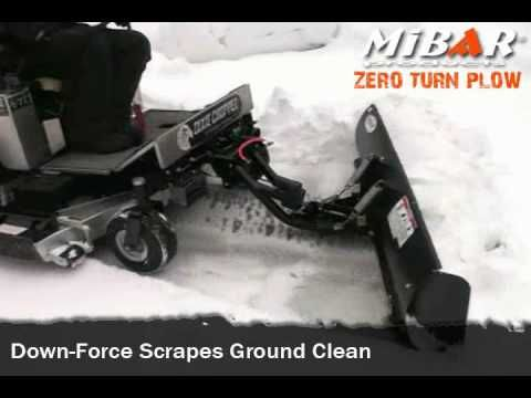 ZTR snow plow for any zero turn mower by Mibar Products