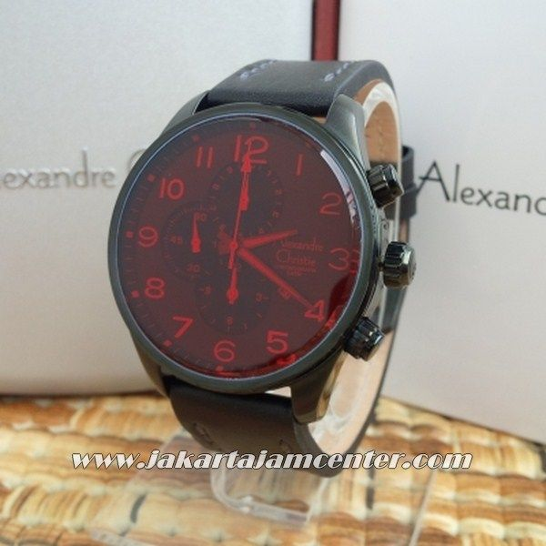 Alexander Christie AC 6273 RED CRYSTAL  Code Name : AC 6273 Grade : Original Engine : Battery Japan Movement Colour : Kelep Black Diameter :  4,4 cm No Water Resistant ( No warranty) Glasses Crystal Original Box  PIN BB2174DB71