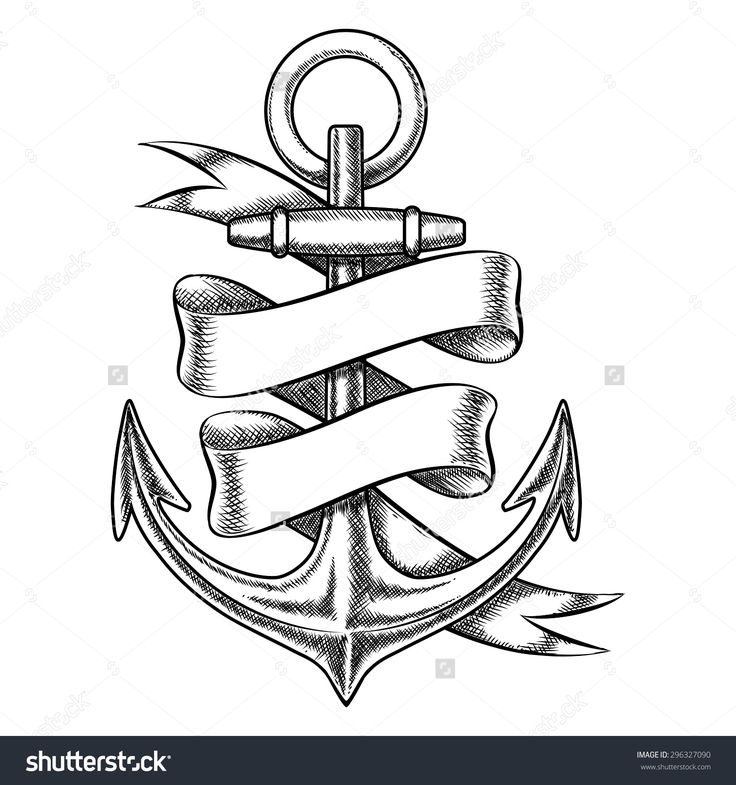 stock-vector-vector-hand-drawn-anchor-sketch-with-blank-ribbon-nautical-isolated-object-vintage-marine-tattoo-296327090.jpg (1500×1600)