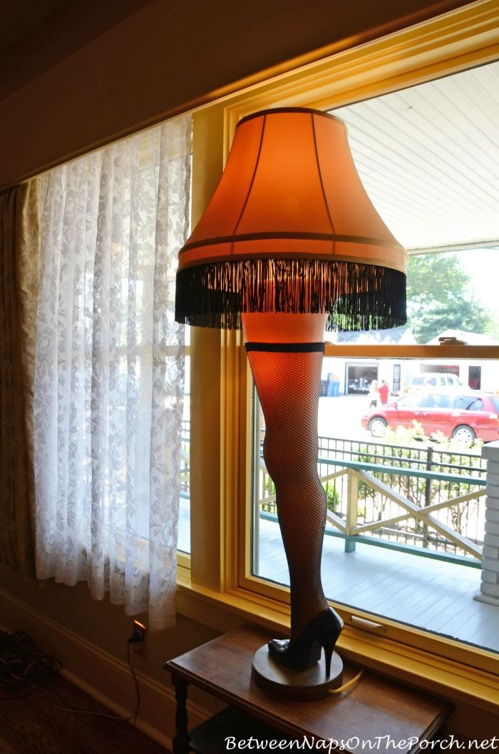 """The Lamp...it's A Major Award! :) Picture taken while touring the """"A Christmas Story"""" movie house in Cleveland, Ohio"""