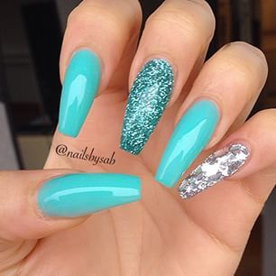 Best 25 blue coffin nails ideas on pinterest acrylic nails love the colors little to long though i also think the colour is prinsesfo Images