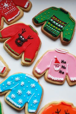 Christmas jumper iced biscuits! Maybe not wearable, but definitely edible.