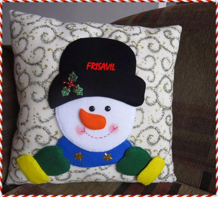 cojines manualidades navideñas frisavil