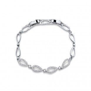 Oliver Weber Women ego style bracelet elegant rhodium with Swarovski Crystals