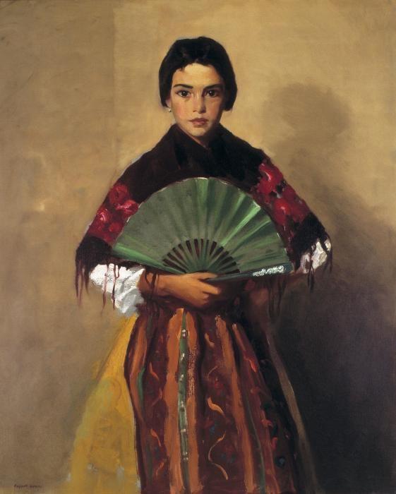 Robert Henri. The Green Fan (Girl of Toledo, Spain). Oil on canvas, 1912. Gibbes Museum of Art, Charleston, South Carolina.