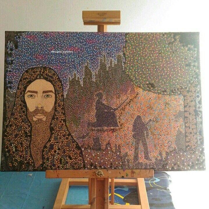 """""""L'arte, l'amore e la magia in te"""" Mixed media on canvas  Rossella Inghilleri"""