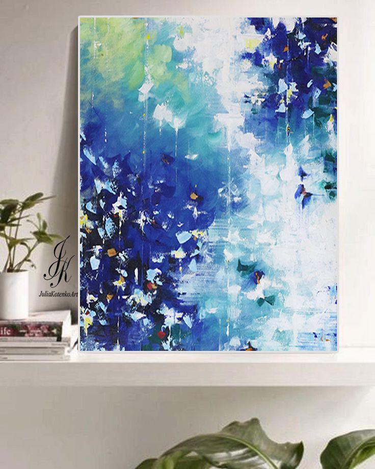 Abstract Acrylic Printable Blue Abstract Print Digital Download Abstract Art On Canva Abstract Canvas Wall Art Abstract Art Painting Diy Abstract Canvas Art
