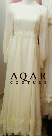 #AQAR #Hijab Bridal Gown. I find it sort of funny but really cool that this reminds me of my moms wedding dress...