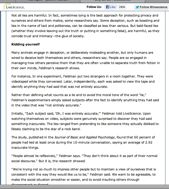 lying ways we lie Essays from bookrags provide great ideas for the ways we lie, an analysis essays and paper topics like essay view this student essay about the ways we lie, an analysis.