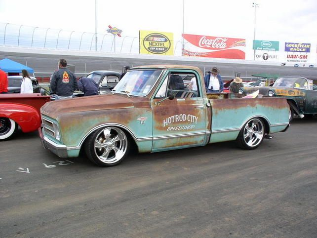 Rusty Old Chevy - Wouldn't even paint it. leave it just like that.