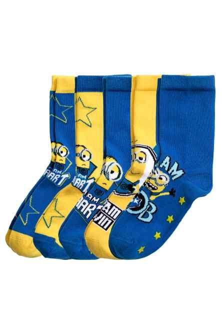 5 pár csúszásgátlós zokni
