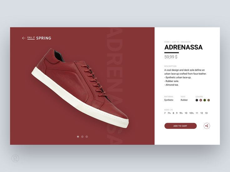Shoe / sneaker shopping — design & animation concept on Behance